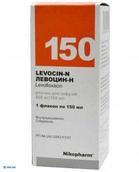 Левоцин-Н раствор 500мг/100мл 150мл