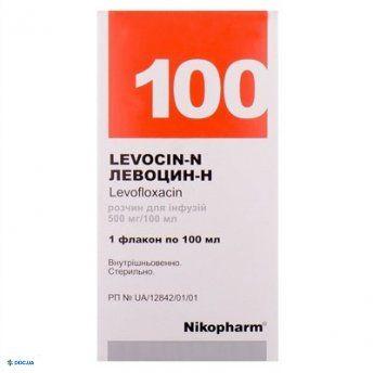 Левоцин-Н раствор 500мг/100мл 100мл