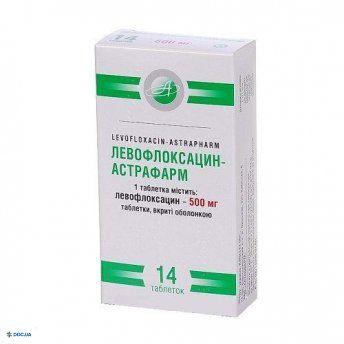 Левофлоксацин-Астрафарм таблетки 500мг №14