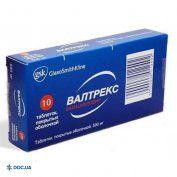 Препарат: Вальтрекс таблетки 500 мг №10