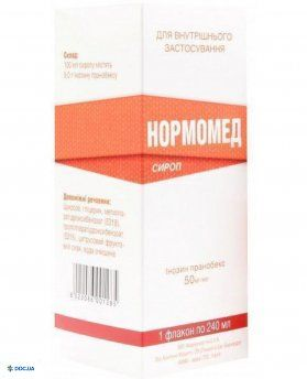 Нормомед сироп 50 мг/мл 240 мл
