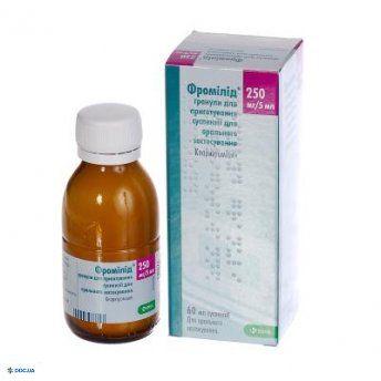 Фромилид гранулы для приготовления суспензии 250 мг/5мл флакон 60 мл