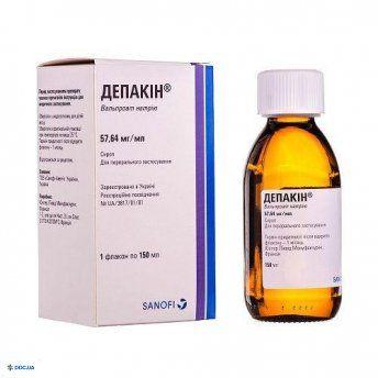 Депакин  Сироп, 57,64 мг/мл, 150 мл