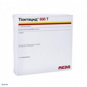 Тиоктацид  600Т 600 мг 24 мл ампула, раствор для инъекций №5