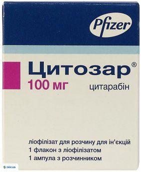 Цитозар лиофилизат для раствора для инъекций 100 мг 5 мл №1