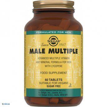 Препарат: Солгар Комплекс витаминов для мужчин, Таблетки, флакон, №60