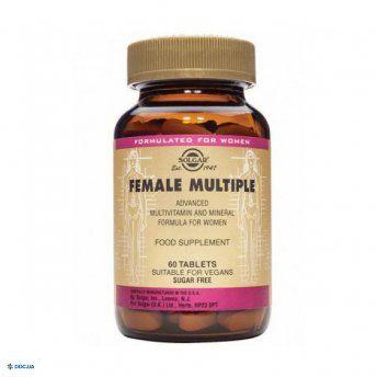Препарат: Солгар Комплекс витаминов для женщин, Таблетки, флакон, №60