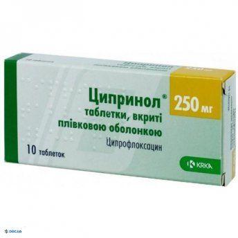Ципринол таблетки 250 мг, №10