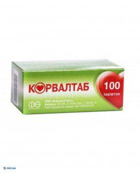 Корвалтаб таблетки №100
