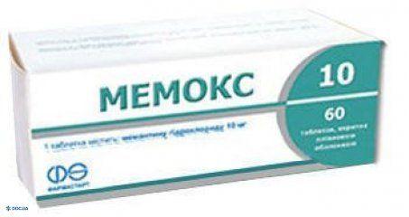 Мемокс таблетки 10 мг №60