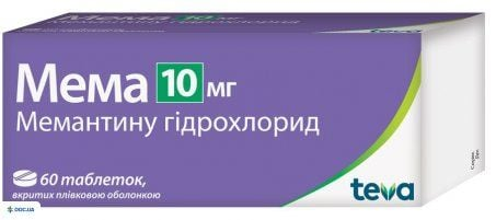 Мема таблетки 10 мг №60