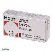 Препарат: Ноотропил таблетки 1200 мг, N20