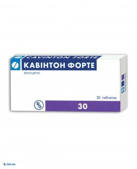 Кавинтон форте таблетки 10 мг № 30