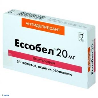 Эссобел таблетки 20 мг, №28