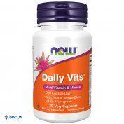 Препарат: Now Daily Vits Multi (Нау Дейли Витс) мультивитаминный комплекс табл. №30