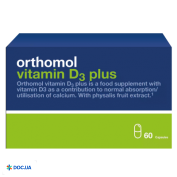 Препарат: Orthomol Вітамін Д3 Плюс №60