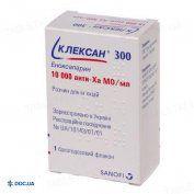 Препарат: Клексан 300 раствор для инъекций10000 анти-Ха МЕ/мл флакон 3мл №1
