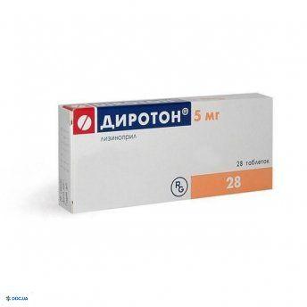 Диротон табл. 5 мг № 28