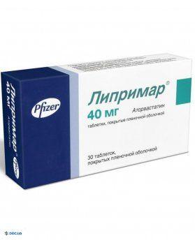 Липримар таблетки 0,04 г №30