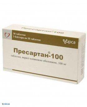 Пресартан таблетки 100 мг №30