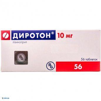 Диротон табл. 10 мг № 56