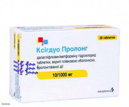 Ксигдуо пролонг Таблетки 1010 мг №28