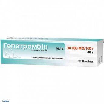 Гепатромбин гель 30000 МО/100 г туба 40 г