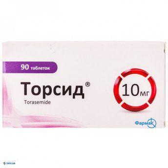 Торсид таблетки 10 мг №90