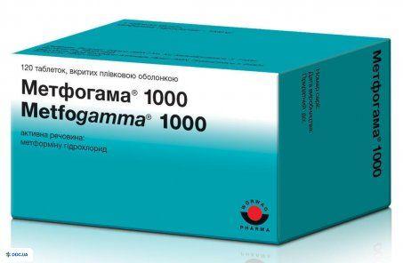 Метфогамма 1000 мг таблетки №120