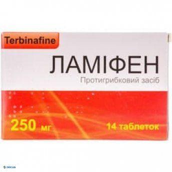 Ламифен таблетки 250 мг №14