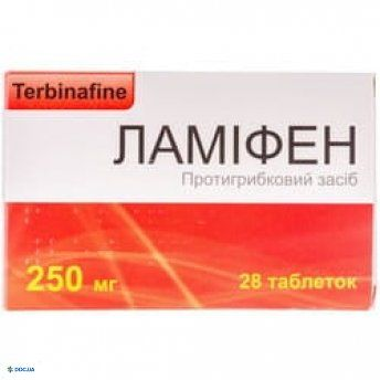Ламифен таблетки 250 мг №28