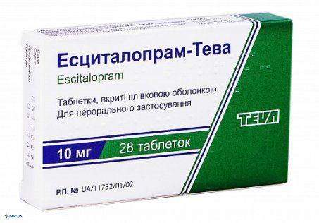 Эсциталопрам таблетки 20 мг №28 Тева
