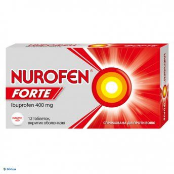 Препарат: Нурофен Форте таблетки 400 мг №12