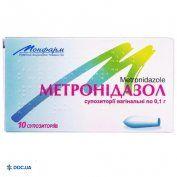Препарат: Суппозитории с метронидазолом вагинальные по 0,1 №10