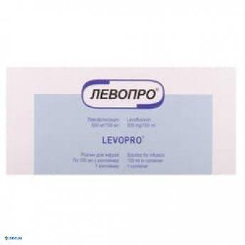 Левопро раствор для инфузий, 500 мг/100мг, бутылка, 100мл, №1