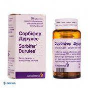 Препарат: Сорбифер Дурулес таблетки 320 мг/60 мг №30
