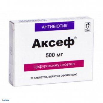 Аксеф таблетки, п/о 500 мг №20