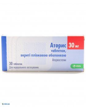 Аторис таблетки, п/о 30 мг, №30
