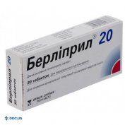 Препарат: Берлиприл таблетки 20 мг №30