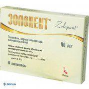 Препарат: Золопент таблетки, покрытые кишечнорастворимой оболочкой 40 мг блистер, №14