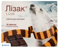Препарат: Лизак, таблетки для рассасывания со вкусом шоколада, №10