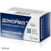 Препарат: Донормил таблетки, покрытые оболочкой 15 мг туба, №30
