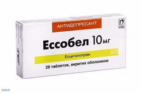 Эссобел таблетки 10 мг, №28