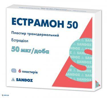 Эстрамон 50 пластырь трансдермальный 50 мкг/сутки, №6