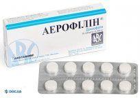 Препарат: Аэрофиллин таблетки 400 мг, №20