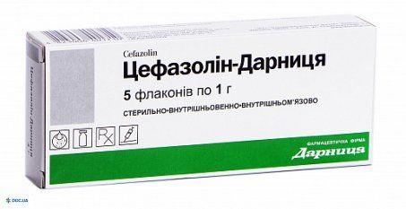 Цефазолин-Дарница порошок для раствора для инъекций 0,5 г флакон, №5