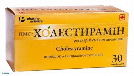 Пмс-холестирамин регуляр со вкусом апельсина порошок 4 г пакет 9 г, №30