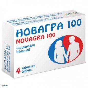 Новагра 100 мг, №4