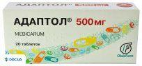 Препарат: Адаптол таблетки 500 мг, №20