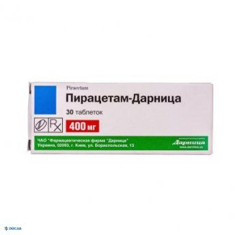 Пирацетам-Дарница таблетки 400 мг №30